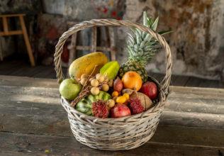 Корзина с фруктами (фото)